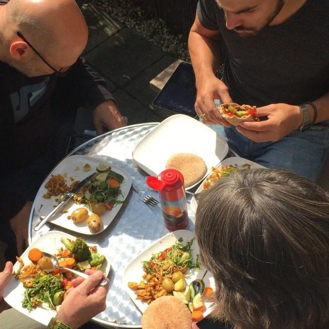 #zomer #lunch #healthy #food  lang leve het dakterras