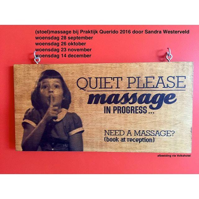 Boek nu een massage op de bank of op de stoel #massage #stoelmassage #relax info bij Asjer of Janke