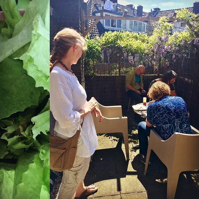 #lunch komt voor een deel uit de #moestuin van @jemscharff #healthylunch #workspace