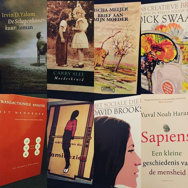 #books can #change your #life #psychotherapy #arttherapy #dickswaab #onscreatievebrein #ischameijer #carryslee #yuvalnoahharari #adriaanvandis #transactionalanalysis #davidbrooks #irvindyalom