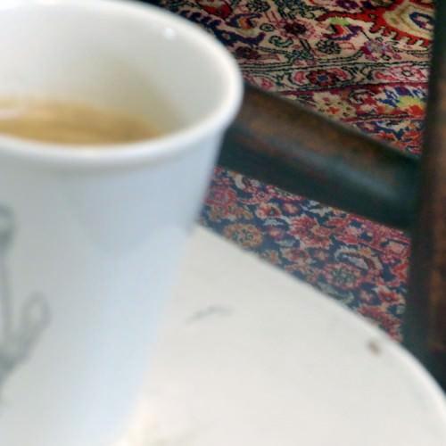 Beker met koffie